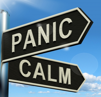 panic and calm signs